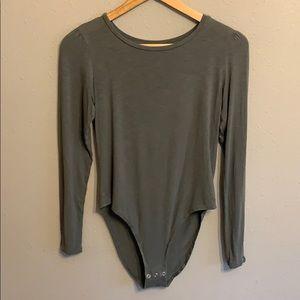 AE olive green bodysuit